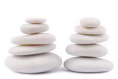 White stone pebble zen Stock Photography