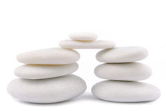 White stone pebble zen isolated Royalty Free Stock Photography