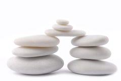 White stone pebble zen isolated Stock Photo