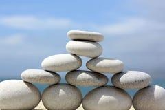 White Stone Pyramid Stock Image