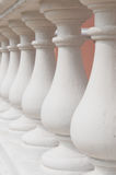 The white stone railings Royalty Free Stock Images
