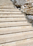 White stone stairway Stock Images