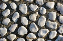 White stone textured pattern Stock Photo