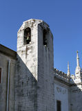 White stone tower with bell in Lisbon Stock Photography