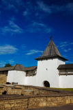 White stone tower of Pskov Kremlin, Russia Royalty Free Stock Images