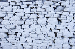 White stone wall Stock Images