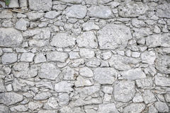 White stone wall - background Stock Photography