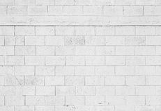 White stone wall background, seamless texture Stock Images