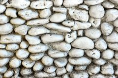 White Stone Wall Royalty Free Stock Image