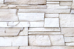 White stone wall decor Royalty Free Stock Photos