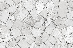 White stone wall detailed seamless background texture Stock Image