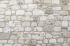 White Stone Wall. Perfect white stone wall texture royalty free stock image