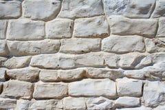 White stone wall.