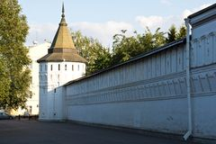 White stone walls of an monastery Stock Photography