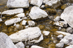 White stone and water Royalty Free Stock Photos