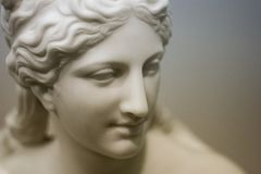White stone woman in museum royalty free stock image