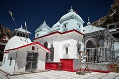 White stoned Indian temple in Gangotri Stock Images