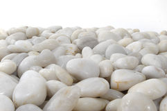 White Stones Background Horizontal Isolated. Created for horizontal banner type designs Stock Image