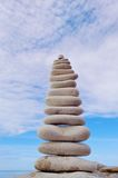 White stones balancing Stock Photo