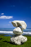 White Stones in a beach Royalty Free Stock Photo