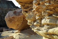White stones beach on Cyprus. Near Pathos and Coral Bay royalty free stock photography