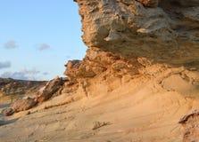 White stones beach on Cyprus. Near Pathos and Coral Bay stock photo