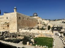 Big old stones temple in Jerusalem Royalty Free Stock Photo