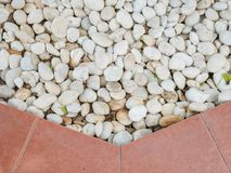 White stones for garden decoration stock images