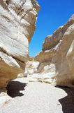 White stones of Makhtesh Ramon Stock Image