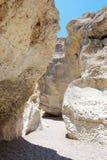 White stones of Makhtesh Ramon Stock Image