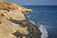 White stones near Limassol. Cyprus Stock Photo