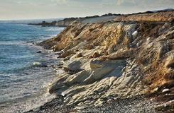 White stones near Limassol. Cyprus.  royalty free stock photos