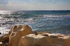 White stones near Limassol. Cyprus Stock Image