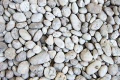 White stones and pebble Stock Image