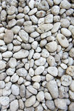 White stones and pebble Stock Images