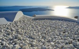 White stones pebbles for decoration royalty free stock photos