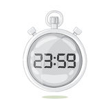 White stopwatch hovering in the air. Royalty Free Stock Photo