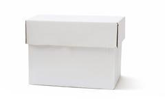 White storage box Royalty Free Stock Image