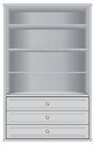 White storage cabinet Stock Images