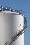 White storage tank Royalty Free Stock Photo