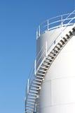 White storage tank for liquids. Large white storage tank for liquids Royalty Free Stock Image