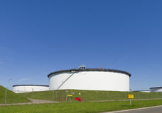 White storage tanks Royalty Free Stock Images
