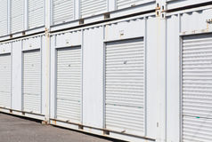 White storage unit Royalty Free Stock Image
