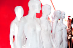 White Store Mannequin Royalty Free Stock Photos