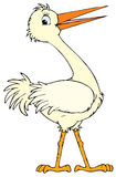 White stork (vector clip-art) Stock Photography