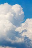 White stormy clouds. White stormy fluffy clouds on blue sky Stock Photography