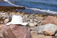 White Straw hat Stock Photography