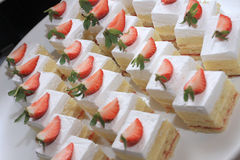 White Strawberry Cakes Royalty Free Stock Photos