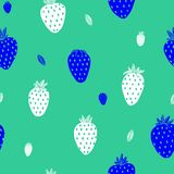 White Strawberry Mint background vector illustration