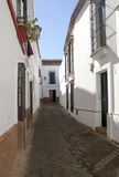White street of Carmona Royalty Free Stock Photo